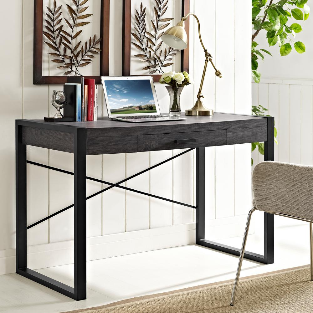 Walker Edison Furniture Company Home Office Charcoal Desk