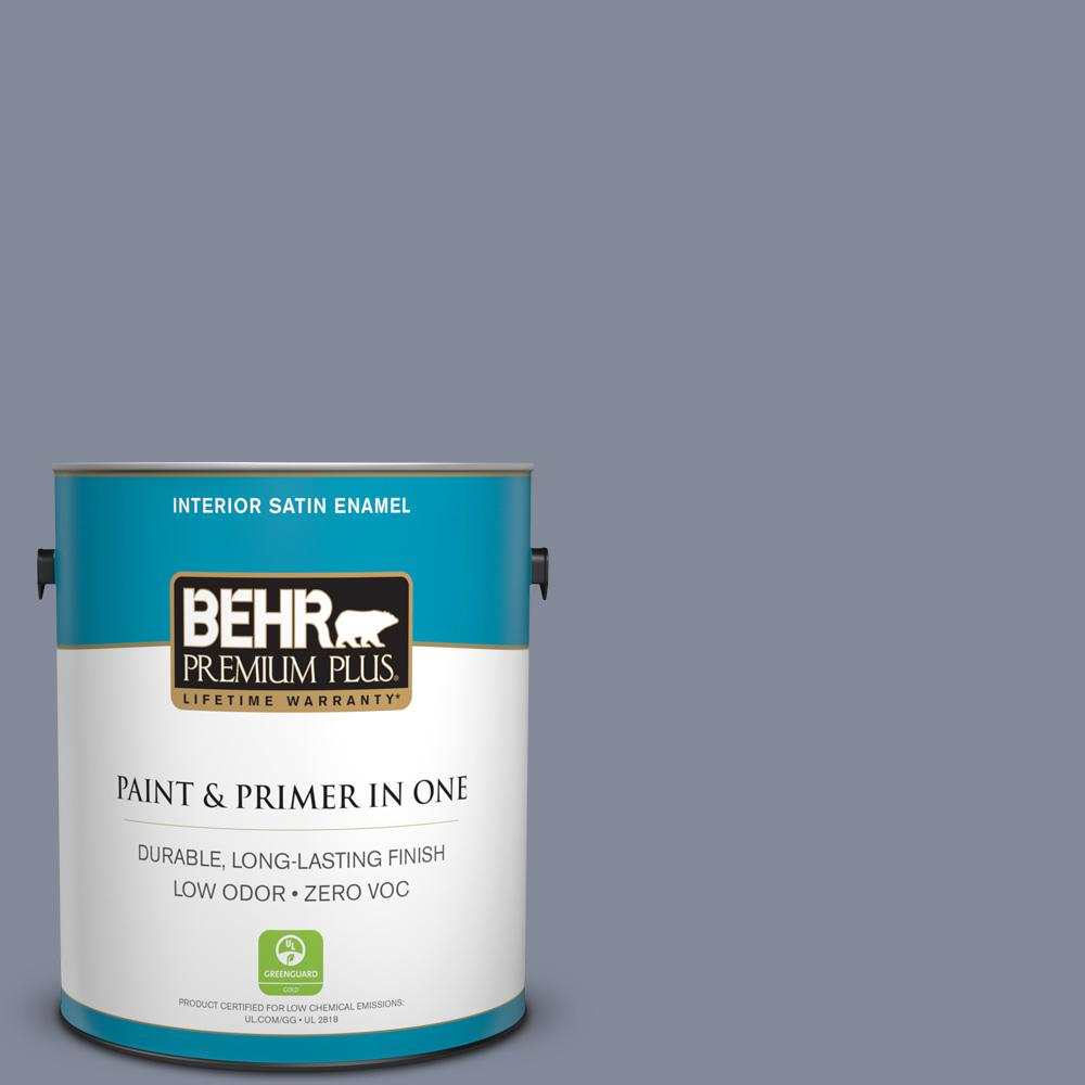 1 gal. #PPU15-08 River Tour Zero VOC Satin Enamel Interior Paint