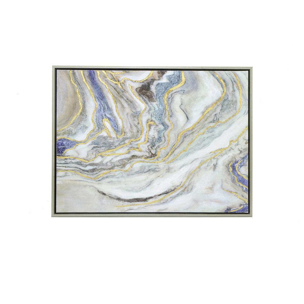 THREE HANDS Painting with Frame - Oil on Canvas-25896 - The Home Depot