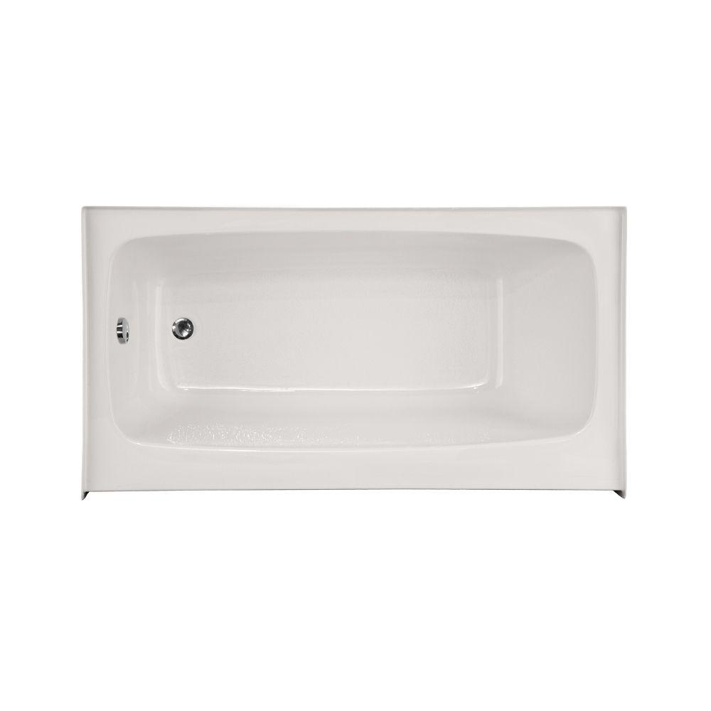 Trenton 5 ft. Left Drain Air Bath Tub in White