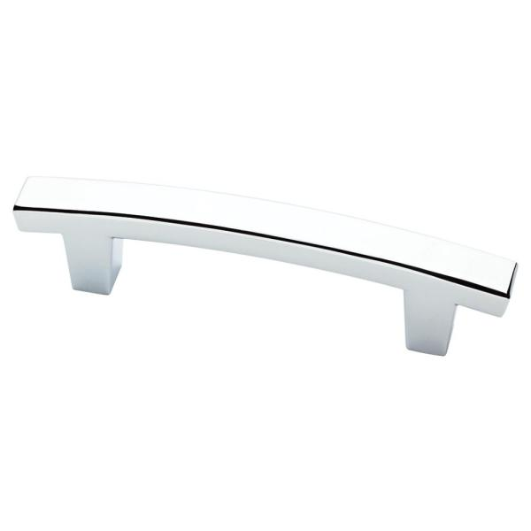 Pierce 3 in. (76 mm) Center-to-Center Polished Chrome Drawer Pull