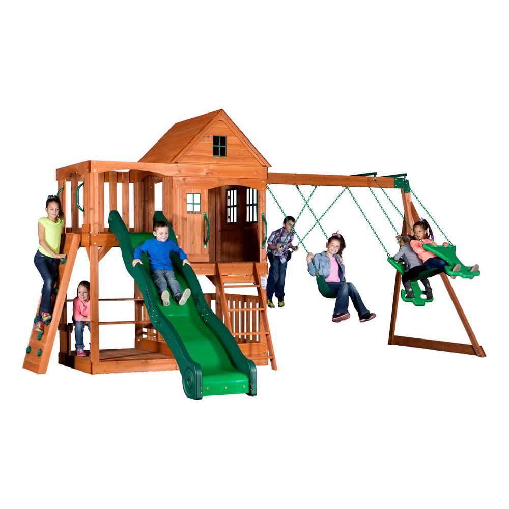 Pacific View All Cedar Playset - Backyard Discovery Tanglewood All Cedar Playset-55010com - The Home