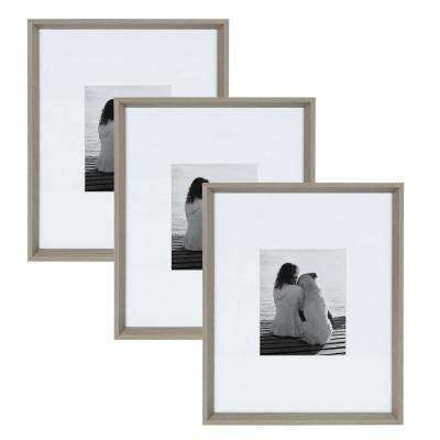 Calter 16x20 matted to 8x10 Gray Picture Frame (Set of 3)