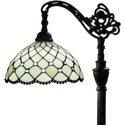 62 in. Tiffany Style Jewel Reading Floor Lamp