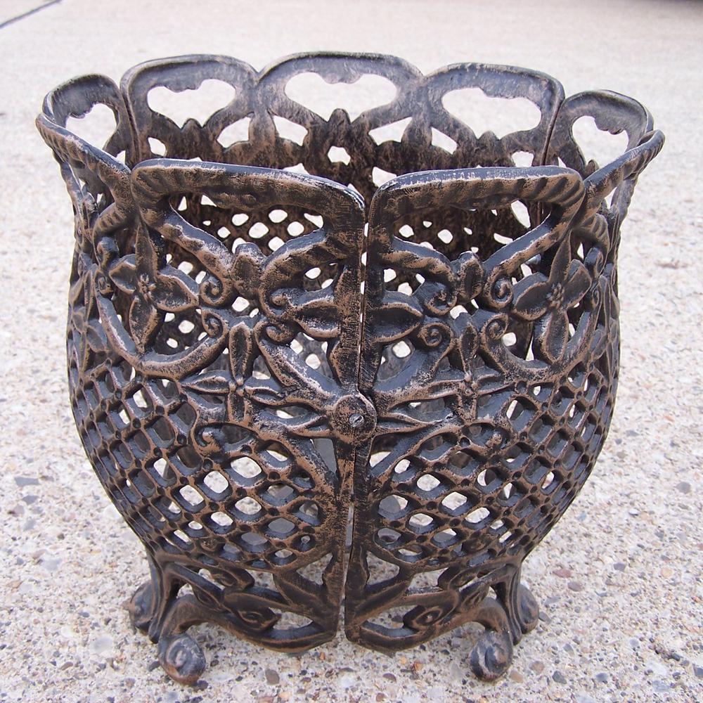 Round Flower Pot Cast Aluminum