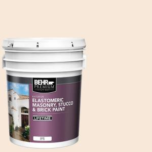 Behr Premium 5 Gal Elastomeric Masonry Stucco And Brick Exterior Paint 06805 The Home Depot