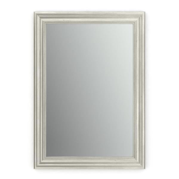 29 in. W x 41 in. H (M3) Framed Rectangular Standard Glass Bathroom Vanity Mirror in Vintage Nickel