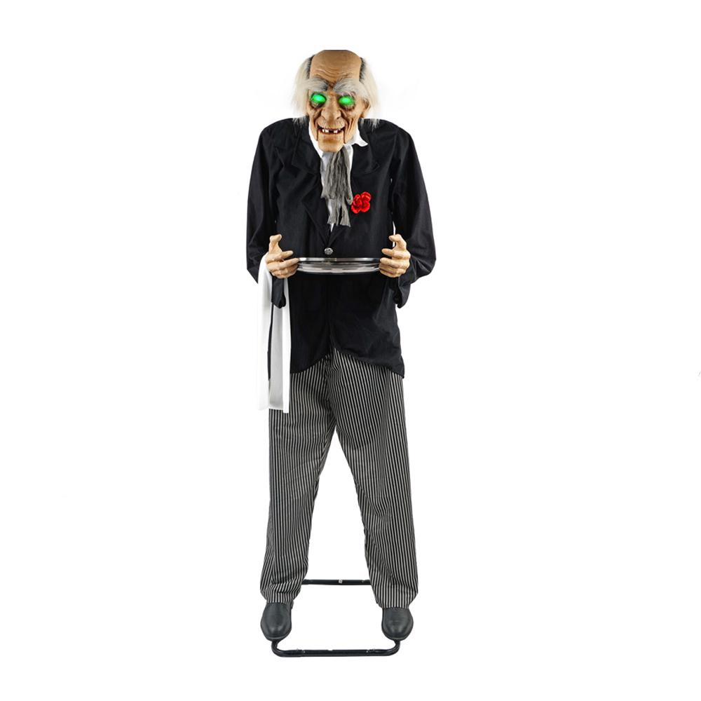 72 in. animated standing butler holding a candy tray-7330-72959