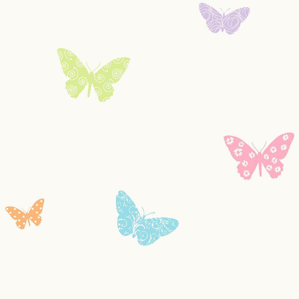 York Wallcoverings 56 sq. ft. Butterfly Wallpaper
