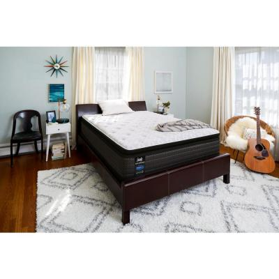 Response Performance 13.5 in. Queen Plush Euro Pillowtop Mattress Set with 5 in. Low Profile Foundation