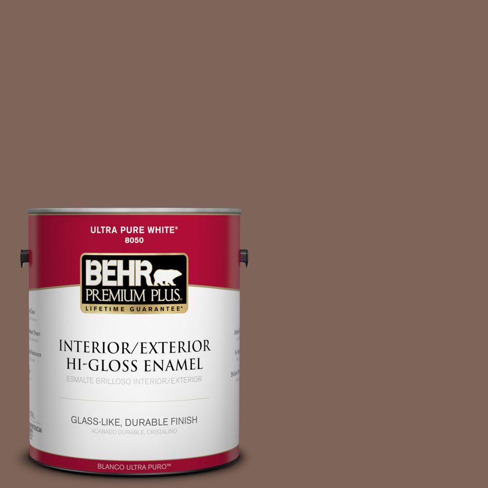 BEHR Premium Plus Home Decorators Collection 1-gal. #HDC-AC-05 Cocoa Shell Hi-Gloss Enamel Interior/Exterior Paint