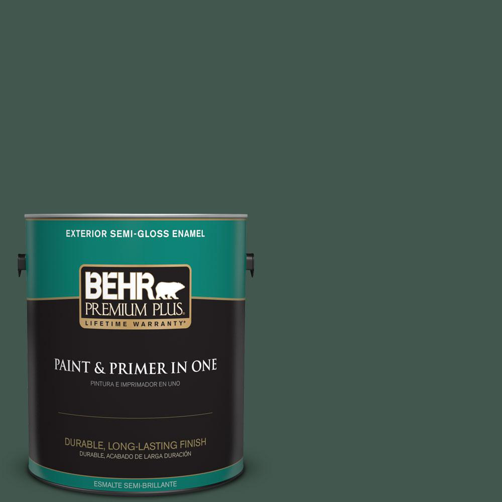 1-gal. #BXC-33 Jolly Green Semi-Gloss Enamel Exterior Paint