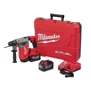 Milwaukee M18 FUEL 18-Volt Lithium-Ion Brushless Cordless 1-1/8 inch SDS-Plus Rotary Hammer Kit W/(2) 9.0Ah... by Milwaukee