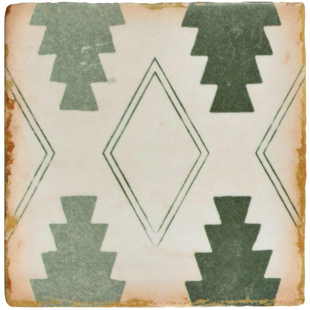 Archivo Argania Encaustic 4-7/8 in. x 4-7/8 in. Ceramic Floor and