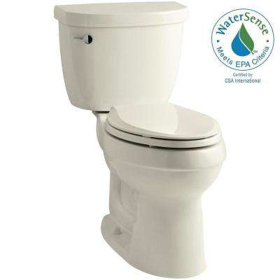 Cimarron 2-piece 1.28 GPF High Efficiency Elongated Toilet with AquaPiston Flushing Technology in Biscuit