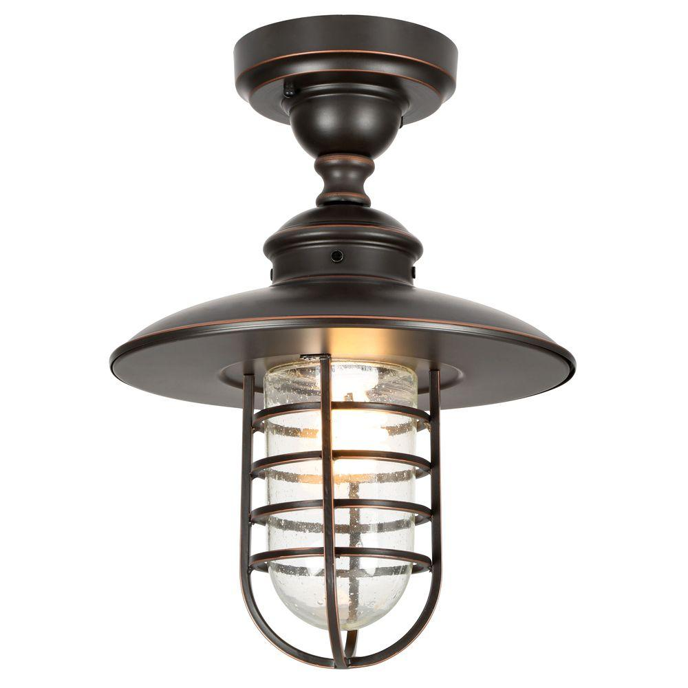 Porch Light Pendant: Hampton Bay Dual-Purpose 1-Light Outdoor Hanging Oil