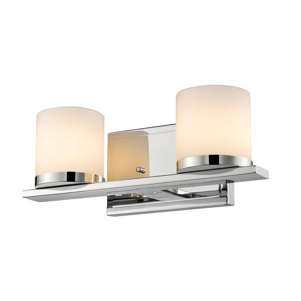 Kariya 2-Light Chrome Bath Vanity Light