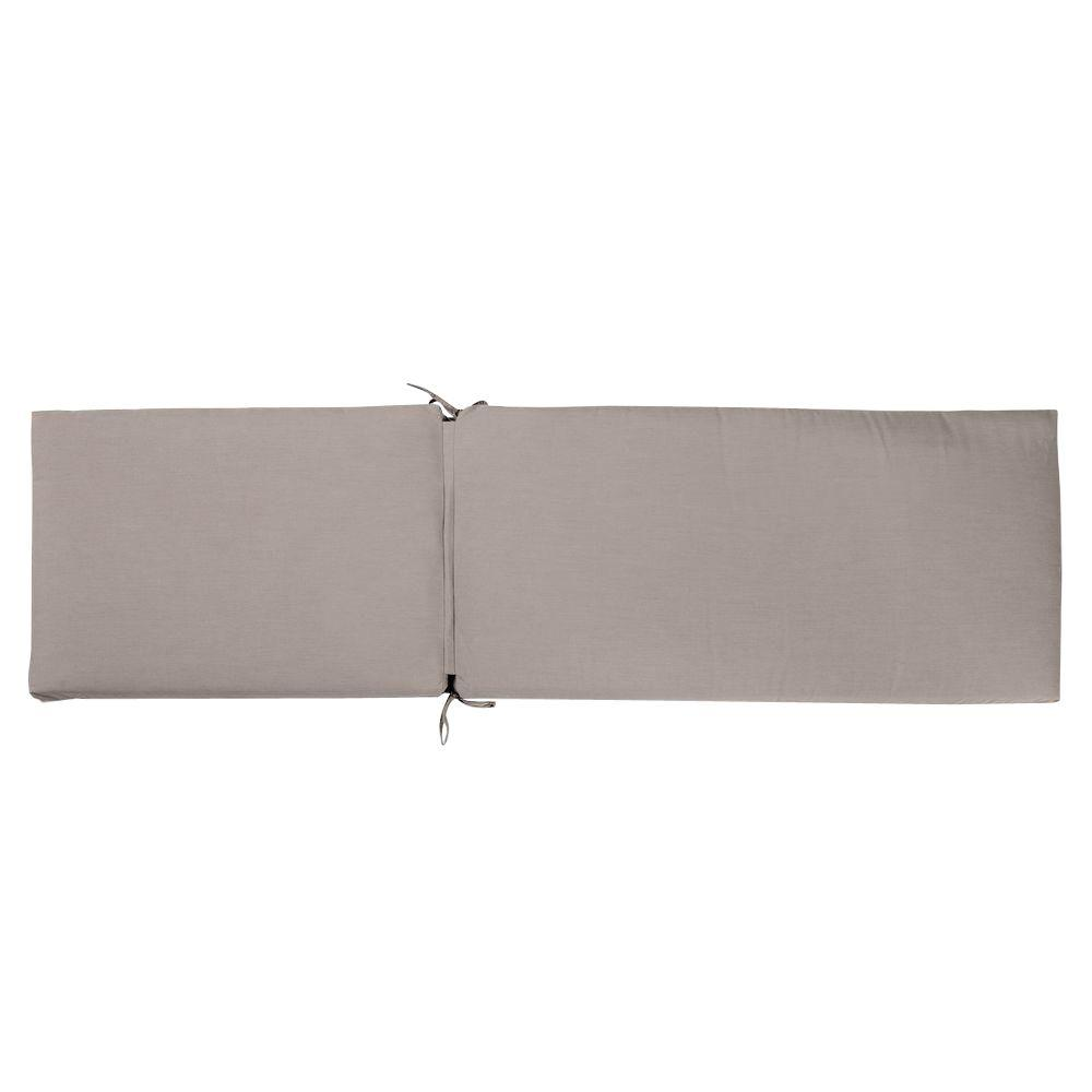 RST Brands Taupe 75 in. x 23 in. Outdoor Chaise Lounge Cushion