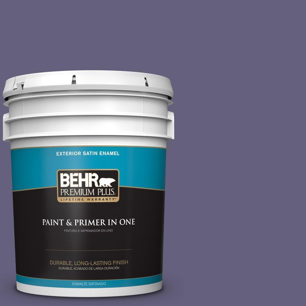 BEHR Premium Plus 5-gal. #PMD-44 Twilight Dusk Satin Enamel Exterior Paint