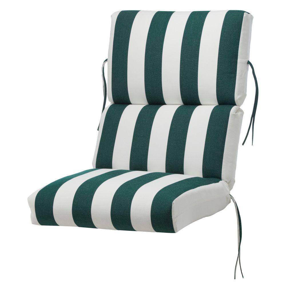 Home Decorators Collection Maxim Forest Sunbrella Bull-Nose High Back Outdoor Chair Cushion