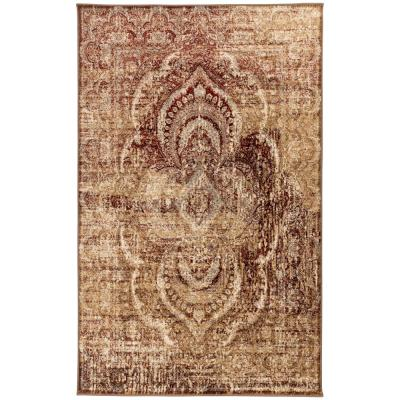 Red 8 X 10 Medallion Area Rugs Rugs The Home Depot