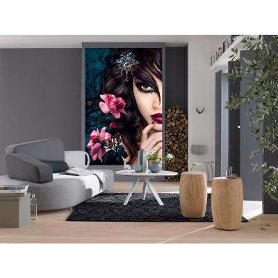 69 in. x 45 in. Midnight Rose Wall Mural