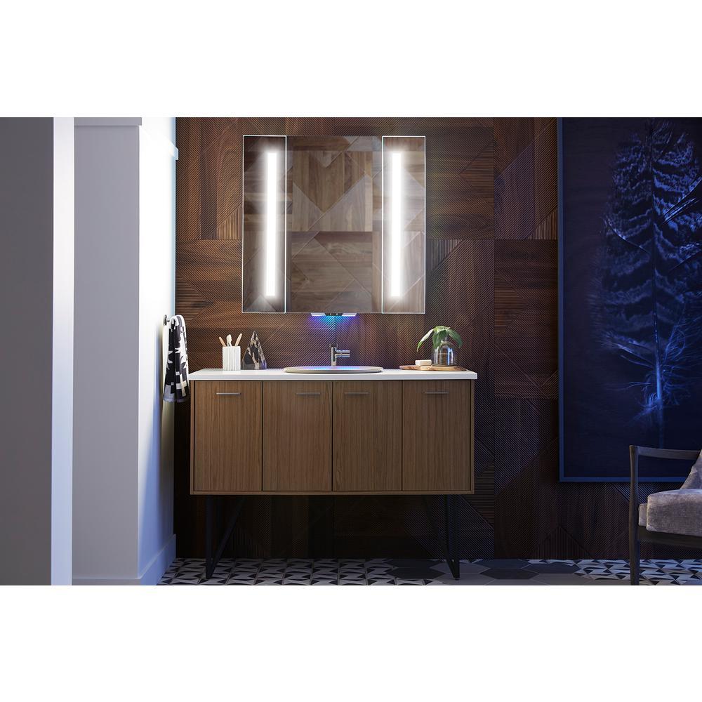 Kohler 34 In W X 33 H Frameless, Kohler Led Bathroom Mirror
