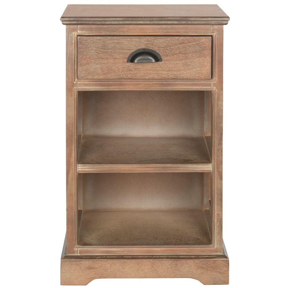 Griffin Washed Natural Pine Storage End Table