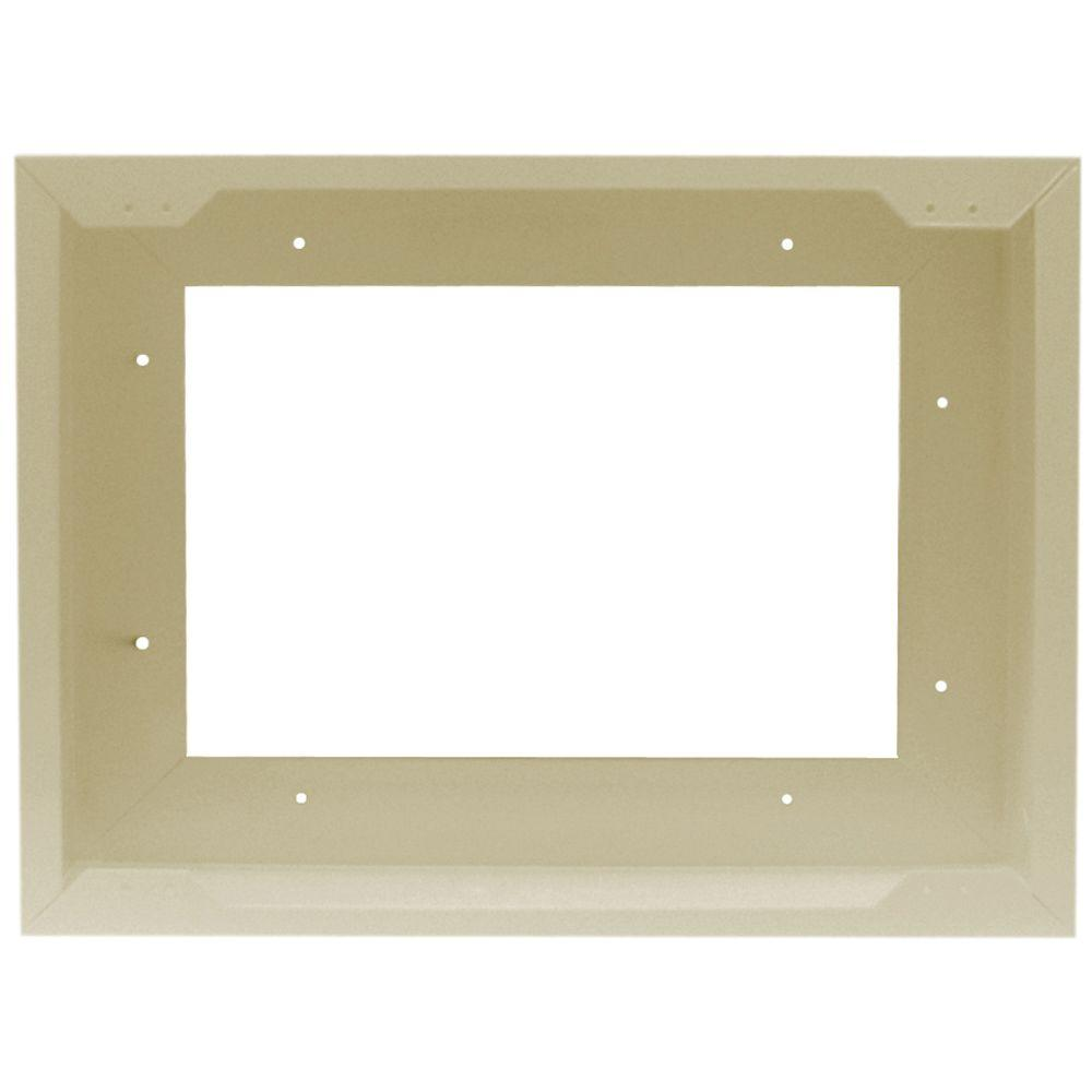 Cadet Com-Pak Twin Metal Surface Mount Adapter in Almond