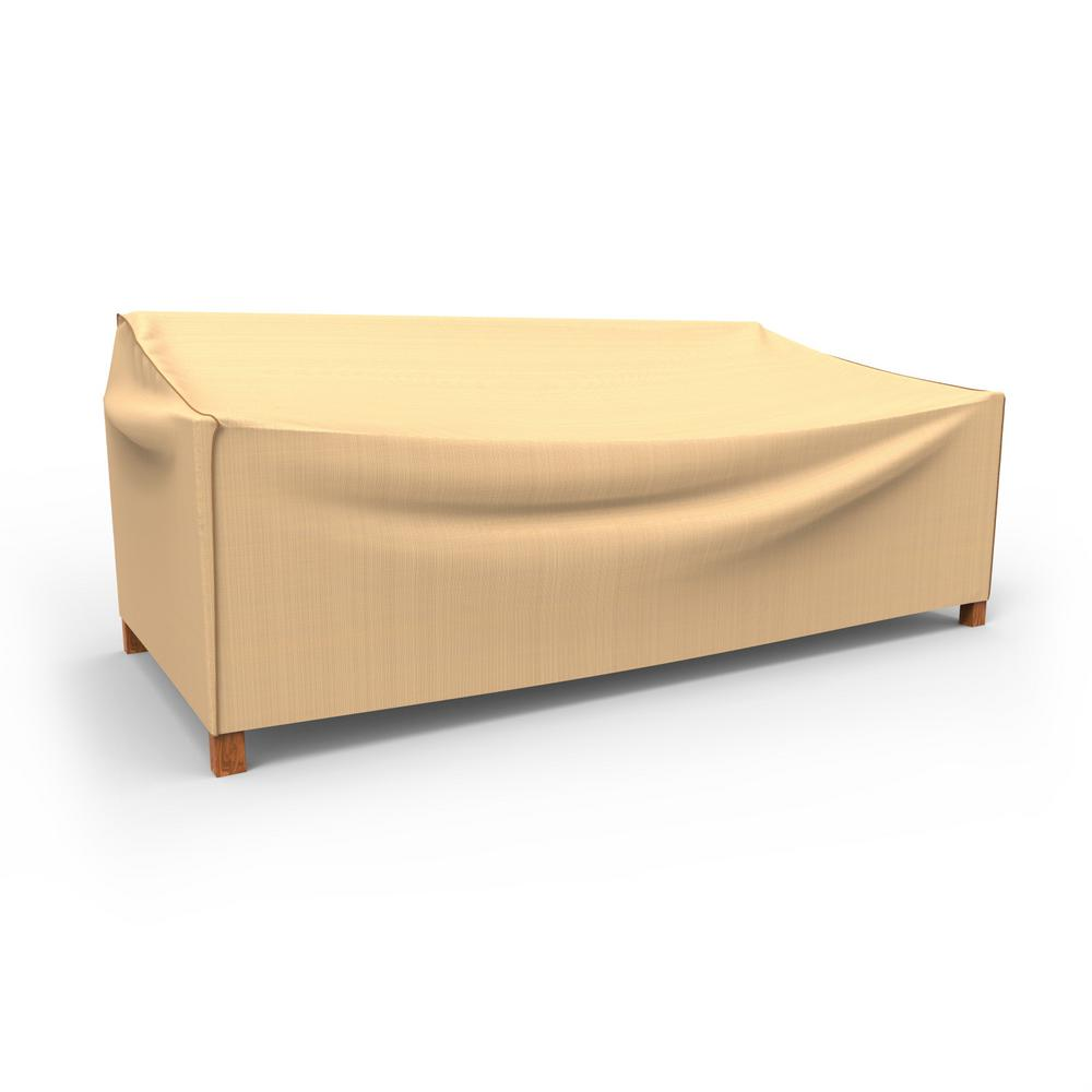 Budge Rust Oleum Neverwet Large Tan Outdoor Patio Sofa Cover
