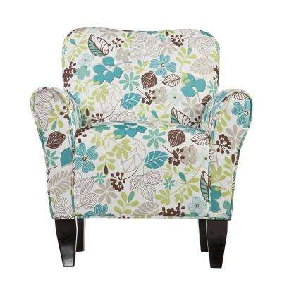 Jada Multi-Color Polyester Arm Chair