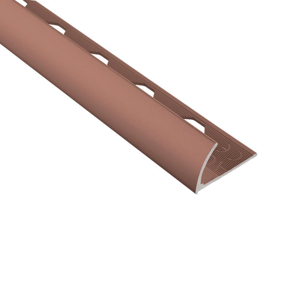 Novocanto Matt Copper 3/8 in. x 98-1/2 in. Aluminum Tile Edging Trim