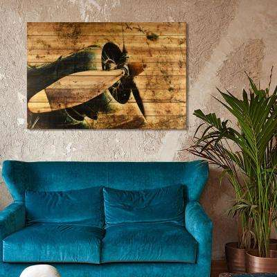 "45 in. x 30 in. ""Corsair"" Arte de Legno Digital Print on Solid Wood Wall Art"