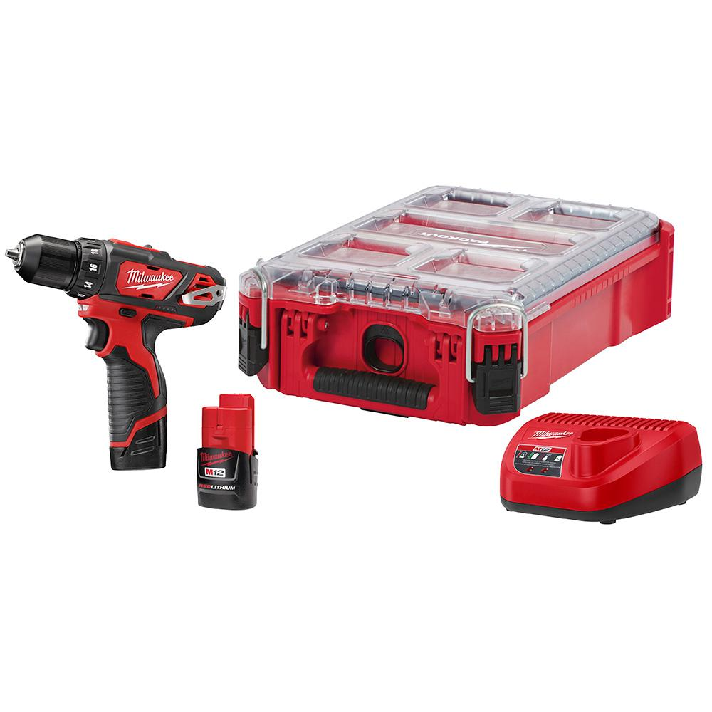 M12 12-Volt Lithium-Ion Cordless 3/8 in. Drill/Driver Kit with PACKOUT Case
