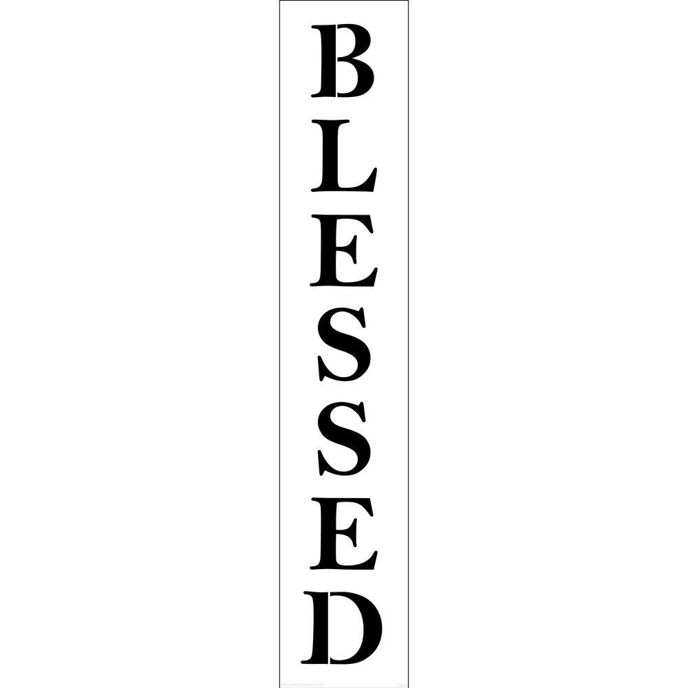 Designer Stencils Blessed Tall Sign Stencil
