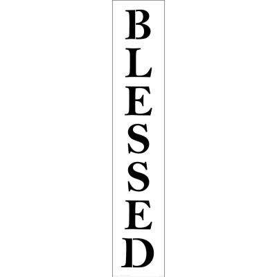Blessed Tall Sign Stencil