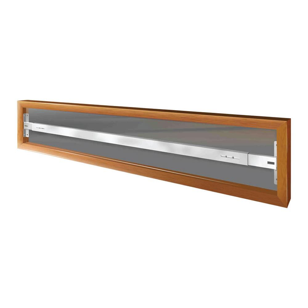 Fixed 52 in. to 64 in. Adjustable Width 1-Bar Window Guard