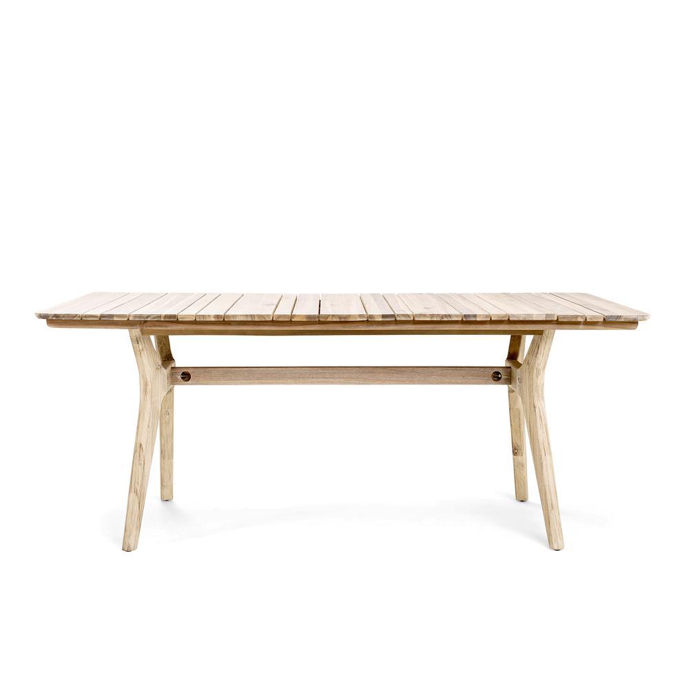 Horizon Rectangular Acacia Wood Outdoor Dining Table