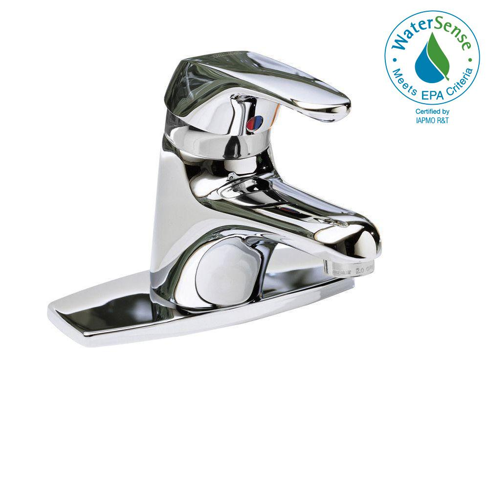Seva Single Hole Single Handle Low-Arc Bathroom Faucet in Polished Chrome