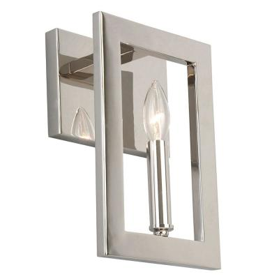 Jordan .75 in. Satin Nickel Sconce