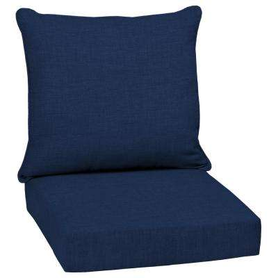 24 x 24 Sapphire Leala Texture 2-Piece Deep Seating Outdoor Lounge Chair Cushion