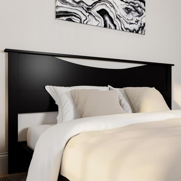 South Shore Step One King Size Headboard In Pure Black 3107290