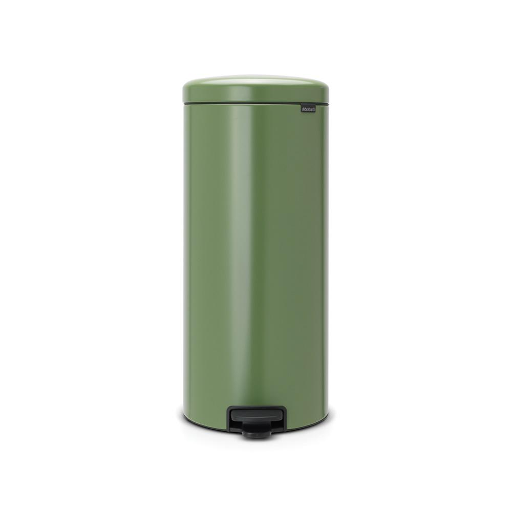 Brabantia 8 Gal. Moss Green Steel Step-On Trash Can