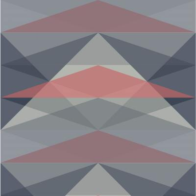 Debut Collection Sundance in Dusty Blue/Coral Premium Matte Wallpaper