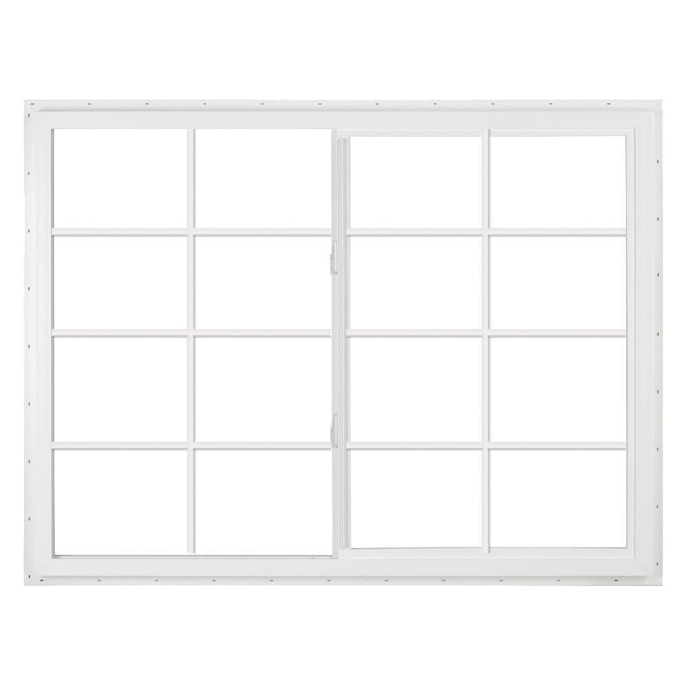 SIMONTON 36 in. x 36 in. DaylightMax Left-Hand Sliding Vinyl Window - White