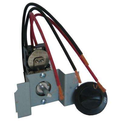 Perfectoe Series UC Black Double-Pole Integral 22 Amp Thermostat Kit