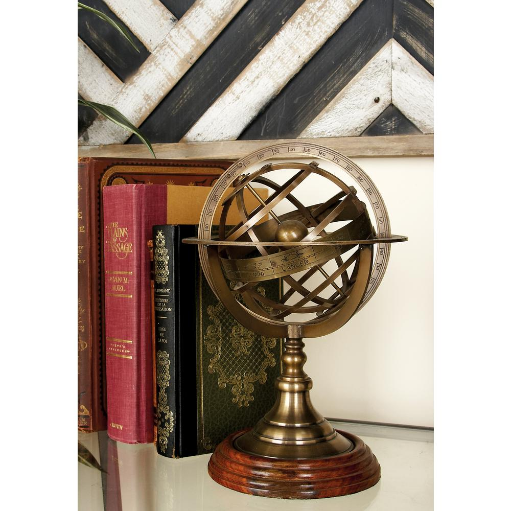Nautical Brass Armillary Sphere, Metallics