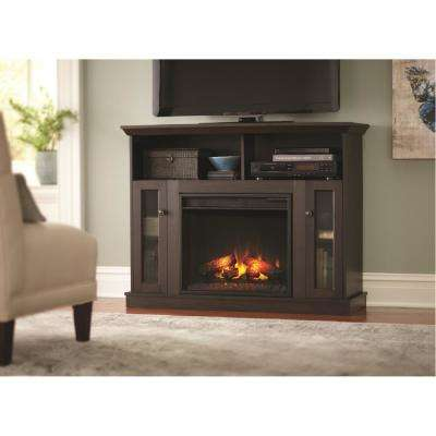 Charles Mill 46 in. Convertible TV Stand Electric Fireplace in Espresso