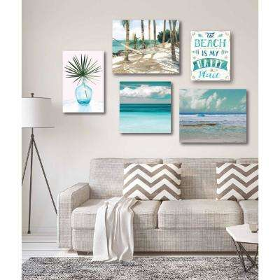 """Tropical Tranquility Gallery Wall Collection"" Printed Wall Art (5-Piece)"