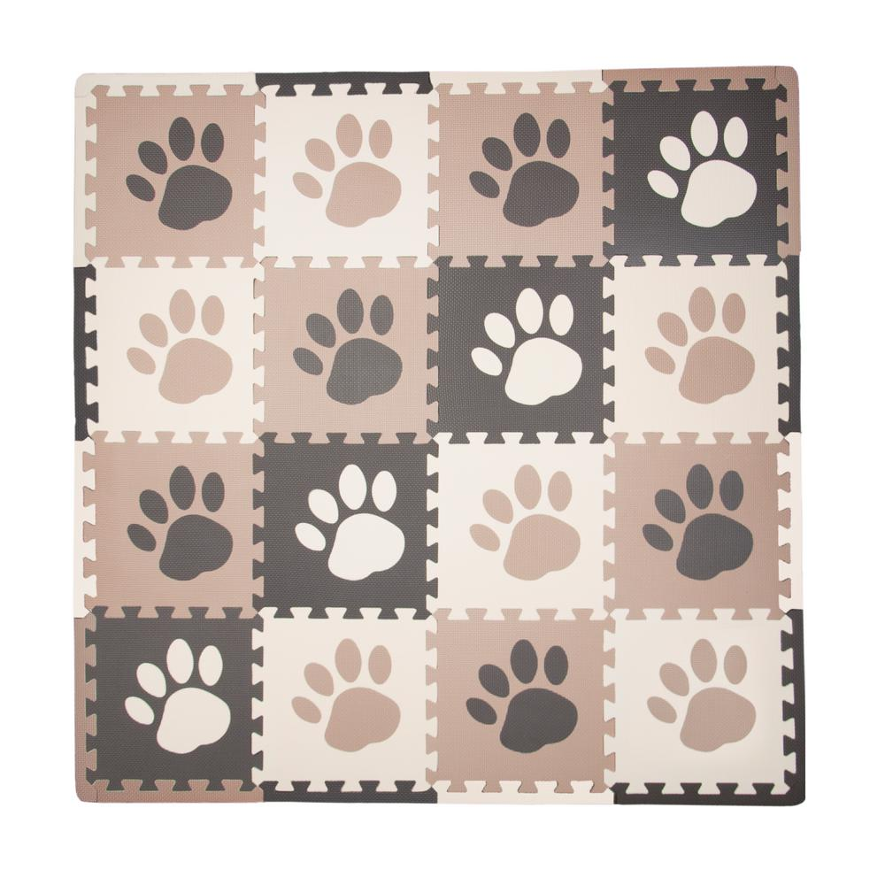 Brown Paw Print 50 in. x 50